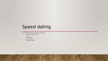 Spanish Speaking Activity for Spanish 1 - Speed dating style!