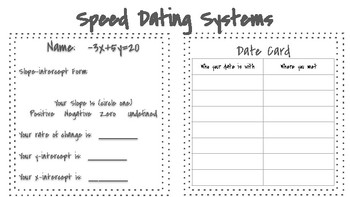 Speed Dating Systems