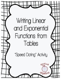 Speed Dating: Writing Linear and Exponential Functions fro