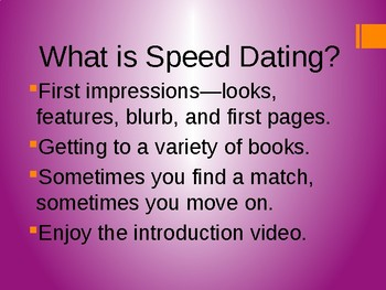 Speed Dating with a Book Powerpoint