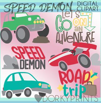 Speed Demon Digital Clip Art