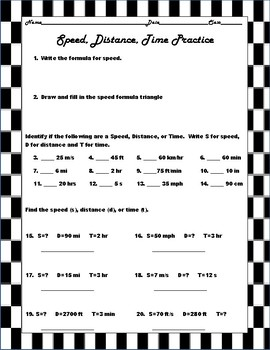 Speed Distance Time Packet