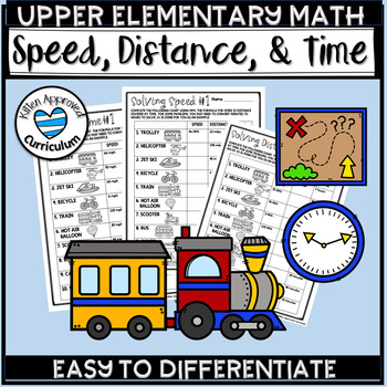 Speed Distance Time Worksheet Set Multiplication and Division