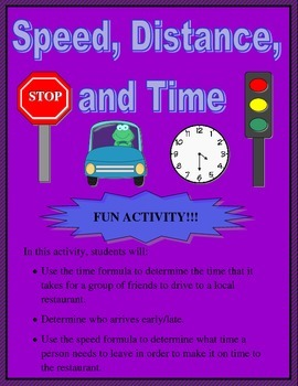 Speed, Distance, and Time Activity)