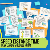 Speed, Distance, and Time Practice Problems Task Cards