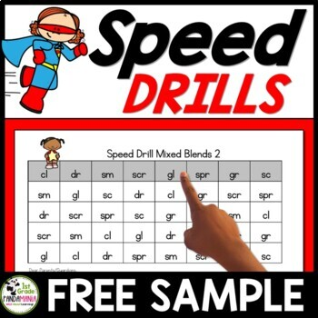 Speed Drills for Letters, Sounds, Blends, Vowels, Sight Words FREE Sample