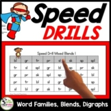 Speed Drills For Blends, Digraphs, and Word Families