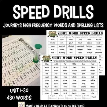 Speed Drills for Journeys HMH -1st Grade Curriculum