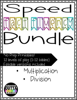 Speed Fact Fluency Game Bundle