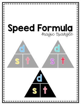 Speed Formula Magic Triangle Poster