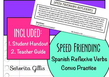 Speed Friending Spanish Reflexive Verb Conversation Practice