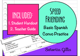 Speed Friending Saludos (Novice Basic Spanish Conversation Activity)