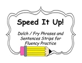 Speed It Up!: Sight Word Phrases Fluency Building Center