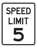 Drive the Alphabet Highway - Speed Limit Signs 5 to 85 - ROAD COLLECTION