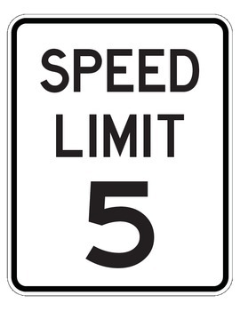 Drive the Alphabet Highway - Speed Limit Signs 5 to 85 - R