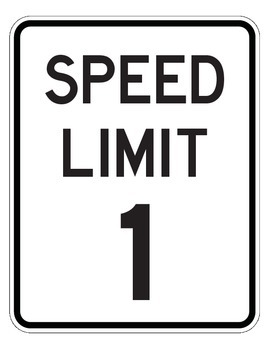 Speed Limit Signs for Counting 0 to 20 - ROAD COLLECTION