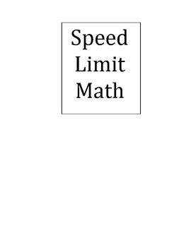 Speed Limit addition