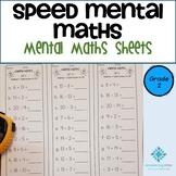 Year 2 Speed Mental Maths - Australian Curriculum