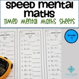 Year 4 Speed Mental Maths - Australian Curriculum