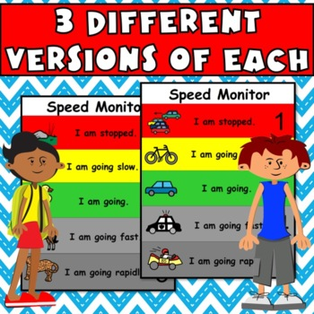 Speed Monitor:Visual Guide for Work & Activity Pacing (autism, aspergers, ADHD)