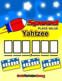 """Speed"" Place Value Yahtzee {Place Value Game}"