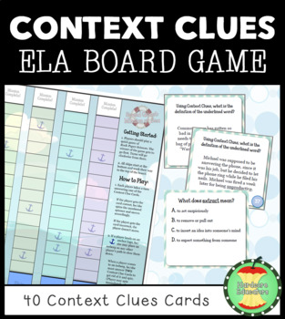 Speed Quest: Mission at Sea ~ CONTEXT CLUES BOARD GAME ~