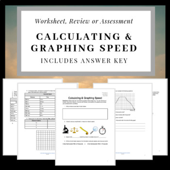 Calculating & Graphing Speed: Quiz, Test or Worksheet