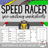 Speed Racer No Prep Differentiated Pre-Writing Worksheets