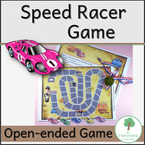 Speed Racer Game to teach spelling, number facts, any fact