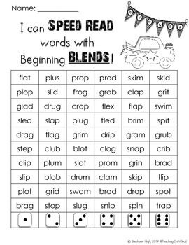 Beginning Blends Phonics Game