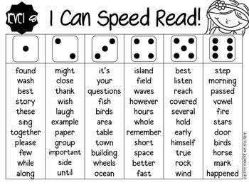 Speed Read Fluency Parent Pack!
