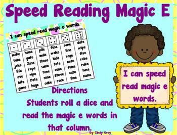 Speed Read Magic E Words