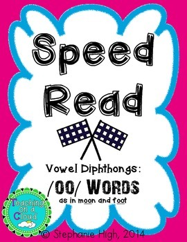 Vowel Digraph OO Words as in (moon) and (foot) Phonics Game