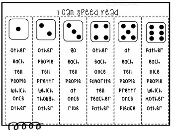 Speed Read Sight Words