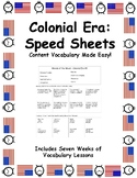 Speed Sheets - Colonial Era