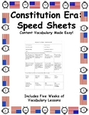 Speed Sheets - Constitution