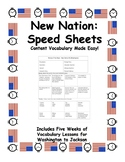Speed Sheets - Presidents (Washington to Jackson)