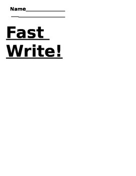 Speed Sight words writing
