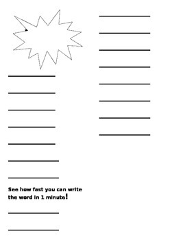 Speed Sight words writing