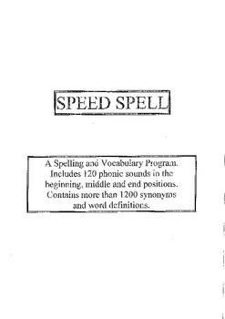 Speed Spell