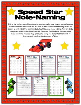 Speed Star Note-Naming (Read music notes more quickly)