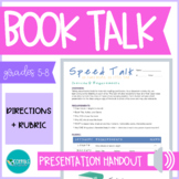 Speed Talk - Book Talk Activity & Rubric