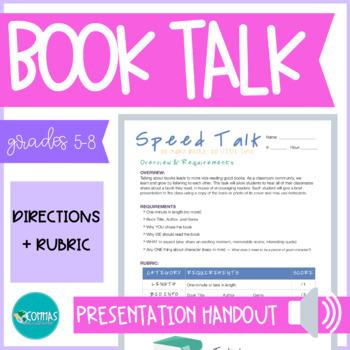 Speed Talk - Book Talk Activity & Rubric