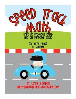 Speed Track Math- Fluency Drills for First Grade Math