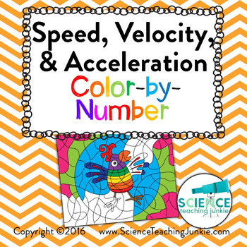 Speed Velocity Acceleration Color By Number By Science Teaching