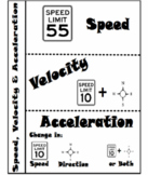 Speed, Velocity, Acceleration Handout