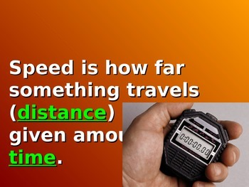 Speed Velocity & Acceleration Powerpoint