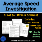 Calculating Average Speed Lab using Variables that Affect Speed