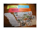 Speed, Velocity and Acceleration Card Activity