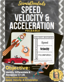Speed, Velocity, and Acceleration - Foldable